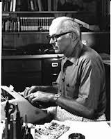 John D. MacDonald typing