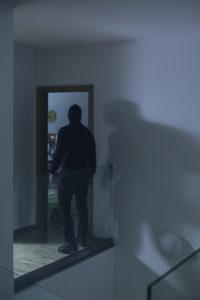 Burglar in house